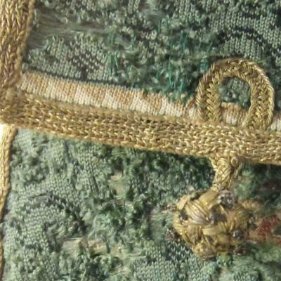 Advent 2020 – Day 2: 16th c Green Silk Knitted Bag