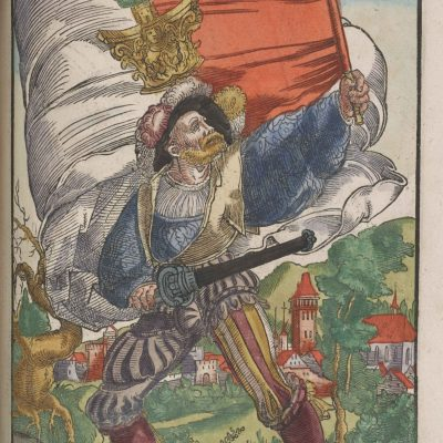 Heraldic Flag and Bearer from Augsburg, 1545